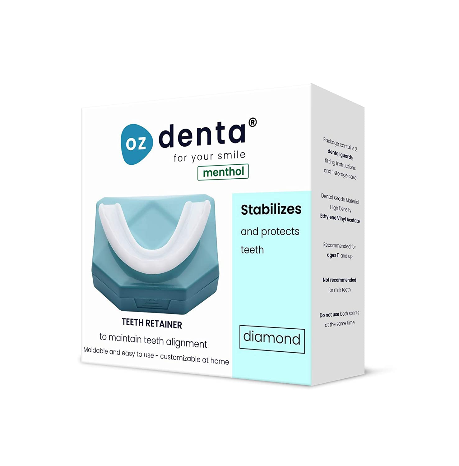 Menthol Ultimate Custom Fit Teeth Retainer Pack of 2 - Dental Mouth Guard For Teeth Grinding, Anti Grinding Dental Night Guard, Stops Bruxism, Tmj & Eliminates Teeth Clenching : Beauty