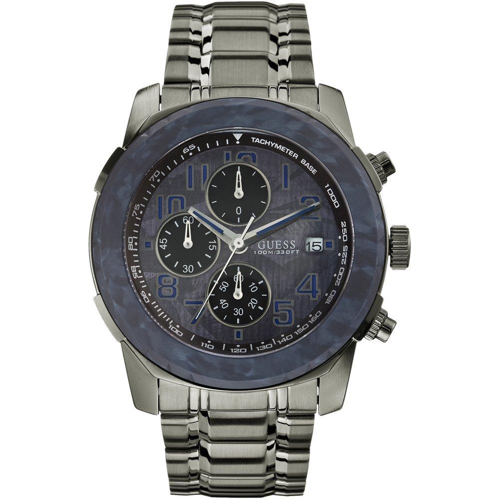 Guess W22522G2 - Reloj analógico de Cuarzo para Hombre con Correa de Acero Inoxidable, Color Plateado