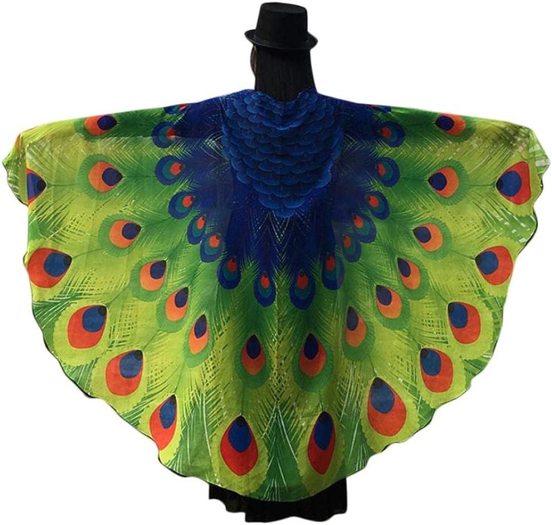 Disfraz de alas de ninfa con diseño de pavo real de Canela, 197 x ...