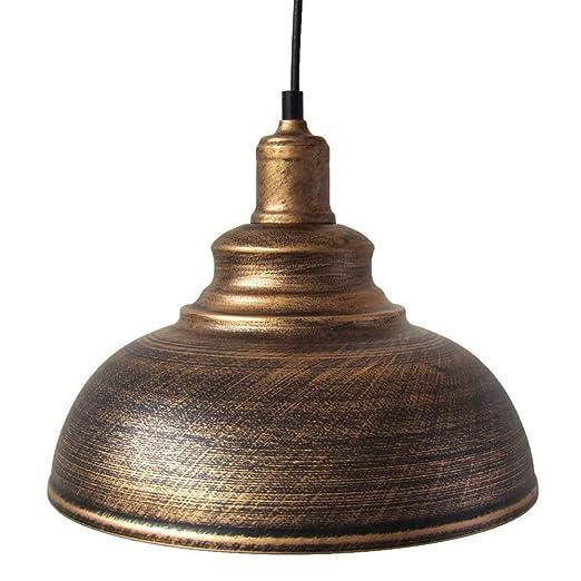QTRT Lámpara de Techo Vintage clásica Lámpara Colgante Retro Jaula ...