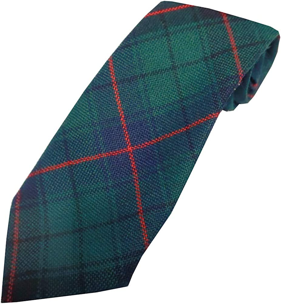 Available in a Selection of Tartans Boys 100/% Wool Tartan Neck Tie