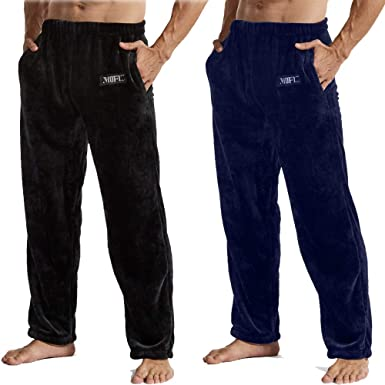 NEW Mens Lounge Pants Size XL Pajamas Sleepwear Blue Black Plaid Pockets PJs