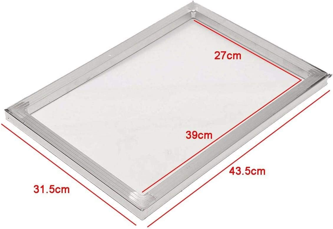 Ctghgyiki Aluminum 27x39cm Screen Frame with 47T 120 Mesh Silk Screen Printing Net Mesh