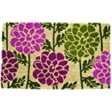 Entryways Dahlias Coir hand Woven Doormat, 18 by 30-Inch