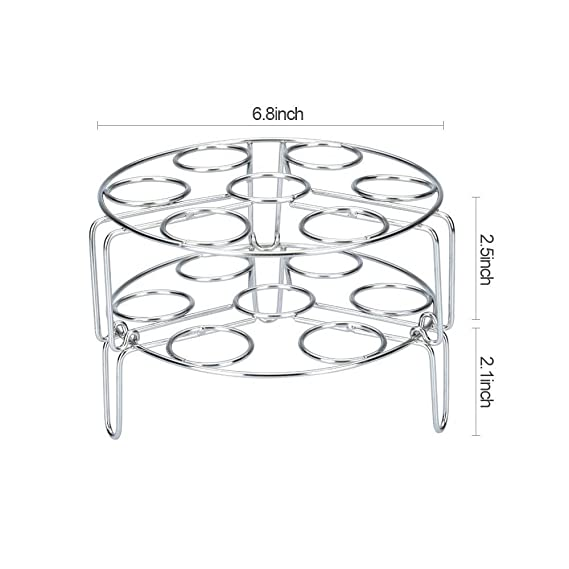 Amazon Com Upgraded Version Egg Steamer Rack Stackable Stainless