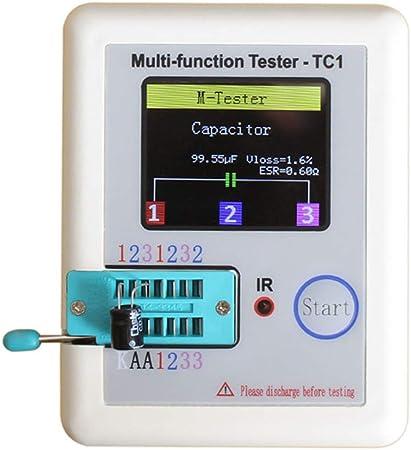 LCR-TC1 Testeur de transistor TFT Diode Triode Capacitance ESR Compteur /& Composant