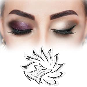24pcs Eyeliner stencil, Eyeshadow stencil, Medical nonwovens materisls makup stencil, including 12 style eyeliner eye shadow set templates
