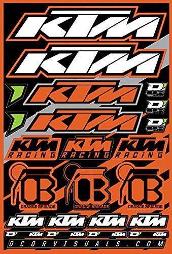 "DCOR Visuals 21/"" Front Rim Decal Sheet Husqvarna Sticker Sheet Graphics"