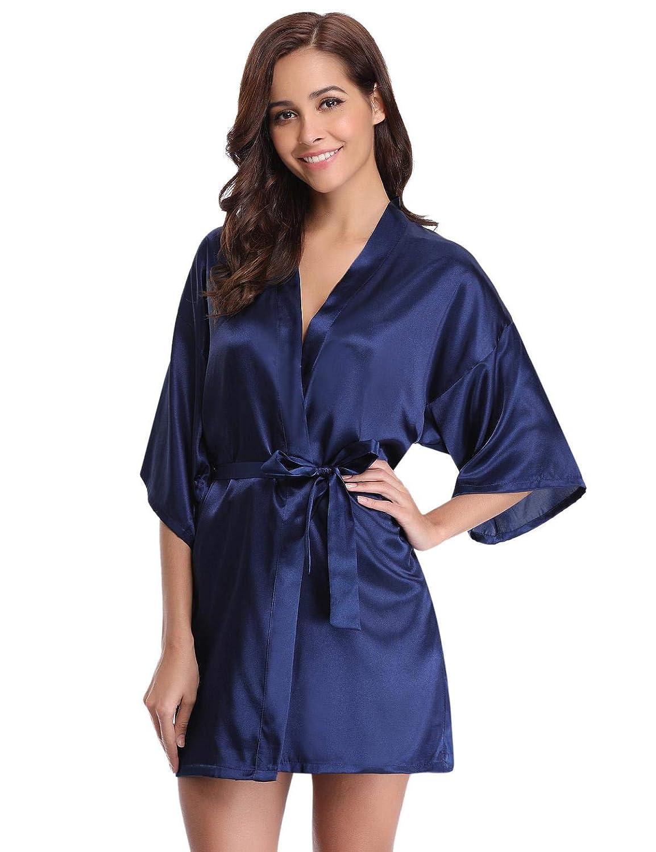 Abollria Kimono Mujer Bata para Satén Mujer Ropa de Dormir Batas: Amazon.es: Ropa y accesorios