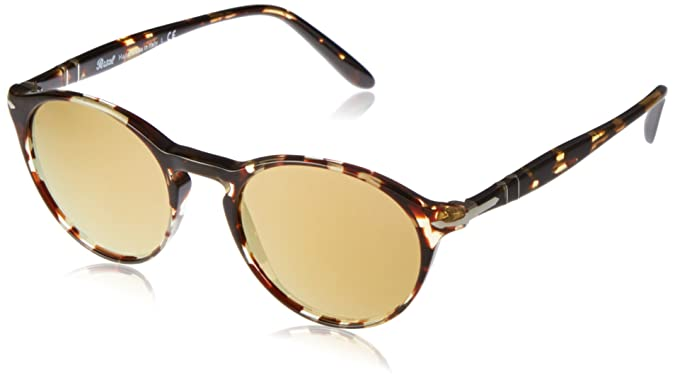 54cad0d77b Amazon.com  Persol Men s 0PO3092SM Striped Red Havana Gradient Brown One  Size  Clothing