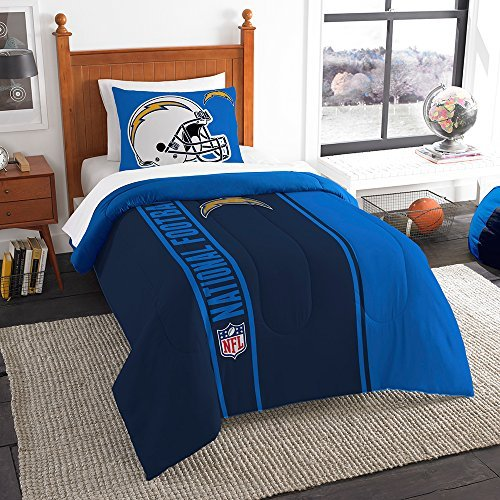 Northwest Sham NOR-1NFL835000079BBB 64 x 86 San Diego Chargers NFL Twin Comforter Set, Soft & Cozy ()