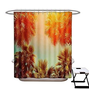 Amazon.com: Cortina de ducha con diseño de palmera de árbol ...