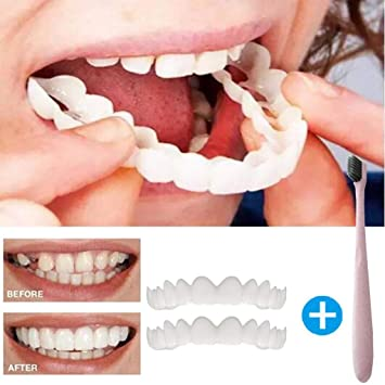 Amazon Com Quqoola 2pcs Whitening Teeth Braces With 1pc Toothbrush