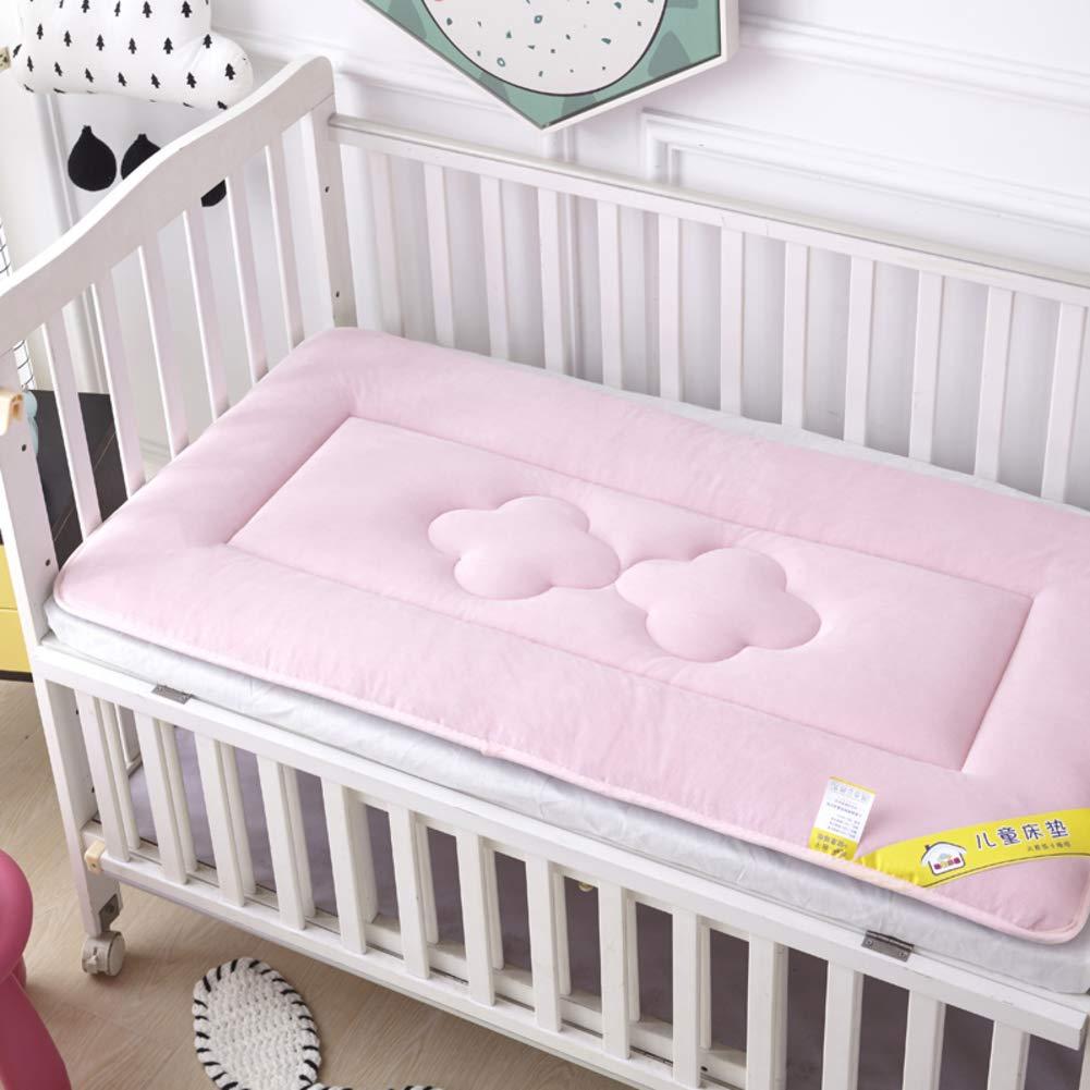 D&LE Baby Mattress, Thicken Crib Mattress Topper Foldable 4cm Breathable Soft Reversible Mattress-Pink 70X140cm by D&LE