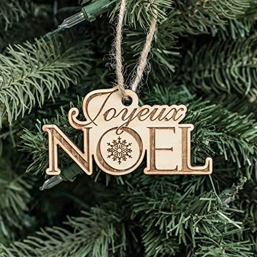 (Ornament - Joyeux Noel - Raw Wood)