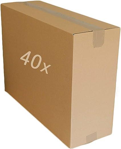 5 10 20 40 cajas grandes de cartón resistentes para casa postal, de varios tamaños, cajas de cartón, color 101,6 x 50,8 x 40,6 cm.: Amazon.es: Oficina y papelería