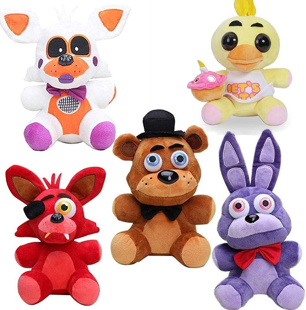 Zhongkaihua Five Nights At Freddy's - Set de peluche Fnaf Plushies Fnaf Toys Sister Location para niños, regalo de cumpleaños