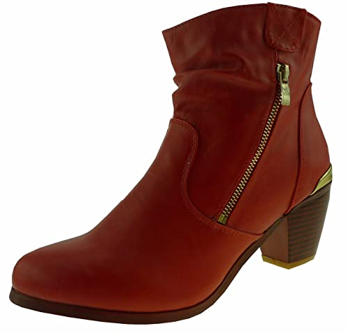 Living updated bottines pour femme - Rouge - Rouge, Taille 38 EU ... ed2a6e069f38