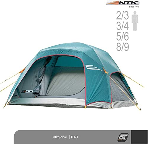 NTK Tent Philly GT Outdoor Dome Family Camping 100 Waterproof 2500mm Easy Assembly Full Coverage Rainfly Micro Mosquito Mesh Available in 3, 4, 6 and 9 Persons