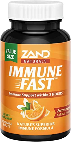Zand Immune Fast Chews Boosts Immune Response Cell Activity w EpiCor* Vitamin C Orange