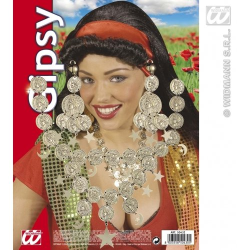 Gipsy Set Necklace/Earrings Gipsy Jewellery for Fancy Dress Costumes Accessories Accessory -