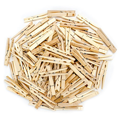 - Knack 100-pack Natural Wood Spring Clothespins