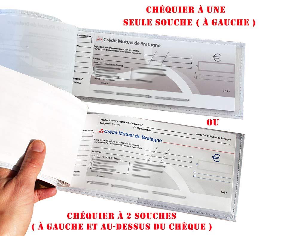 Porte-ch/équier correspondance femme Motif Graphique gris r/éf Porte-ch/équier long horizontal /à rabats pour femme 2082