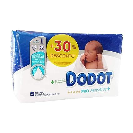 38 x Pañales Dodot Pro Sensitive + Talla 1 Peso 2-5 Kilos Protección ...