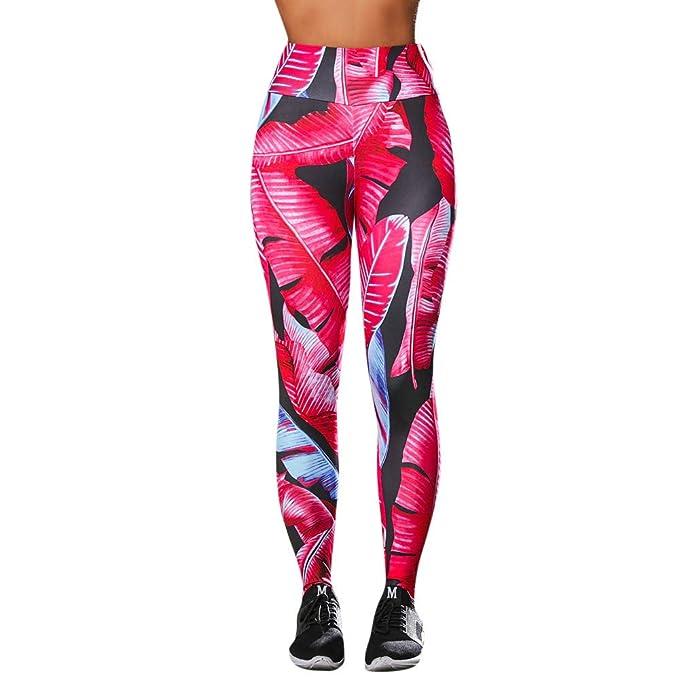 Leggings Deporte Mujer Mosstars Mujeres de Cintura Alta Yoga ...