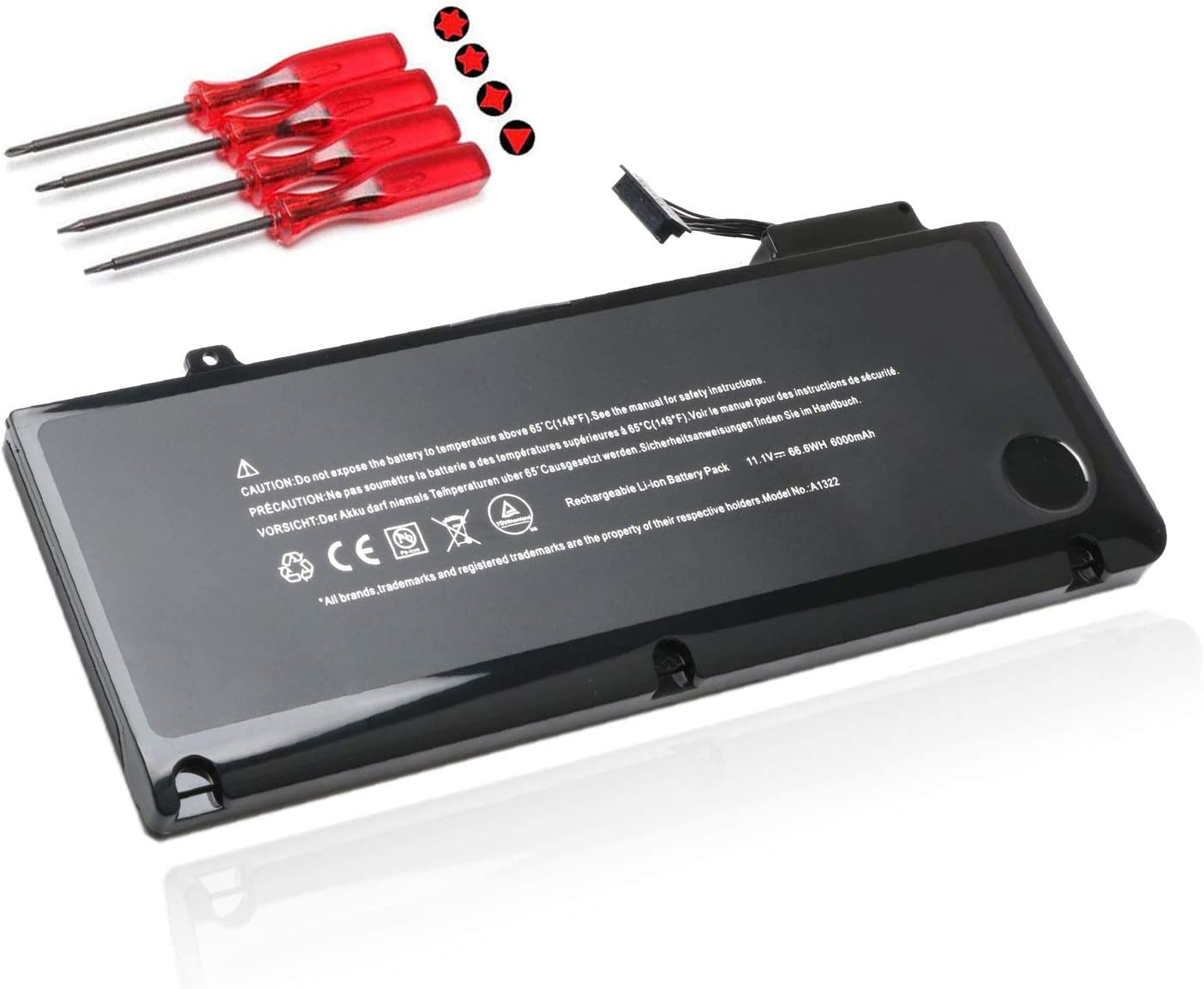 "A1322 Laptop Battery for MacBook Pro 13"" A1322 A1278 (Mid 2009, Mid 2010, Early and Late 2011, Mid 2012 Version) Replacement Batteries MB990LL/A MB991ll/A MC374ll/A MC375LL/A MC700ll/A MD101LLA"