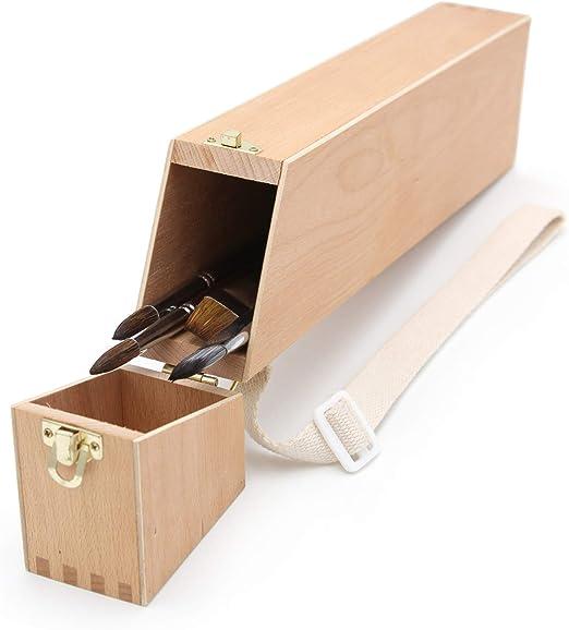 Pincel Caja, soporte para pinceles -1, Pincel Buzón, madera ...