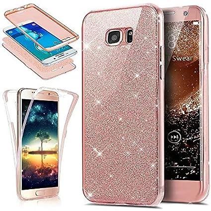 Funda Samsung Galaxy J7 2017 360 Grados Integral Para Ambas Caras Carcasa,Galaxy J7 Transparente Funda Caso 360 Grados Full Body Protección Completa ...