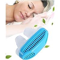 WJ Se detienen los ronquidos de la Nariz, el Anti-ronquido Alivia el purificador de Aire para Dormir del respirador Que ronca (Azul)