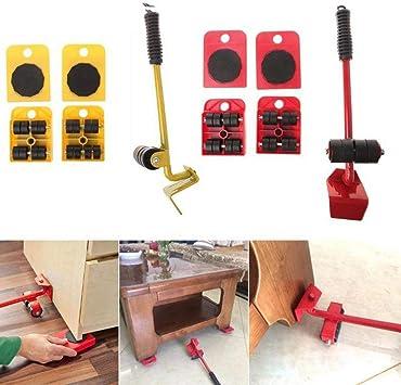 Corneliaa Levantador de Muebles Desplazadores fáciles de Mover 5 Paquetes Juego de Herramientas de mudanza Dispositivo para Muebles Pesados Sistema de mudanza y elevación: Amazon.es: Juguetes y juegos