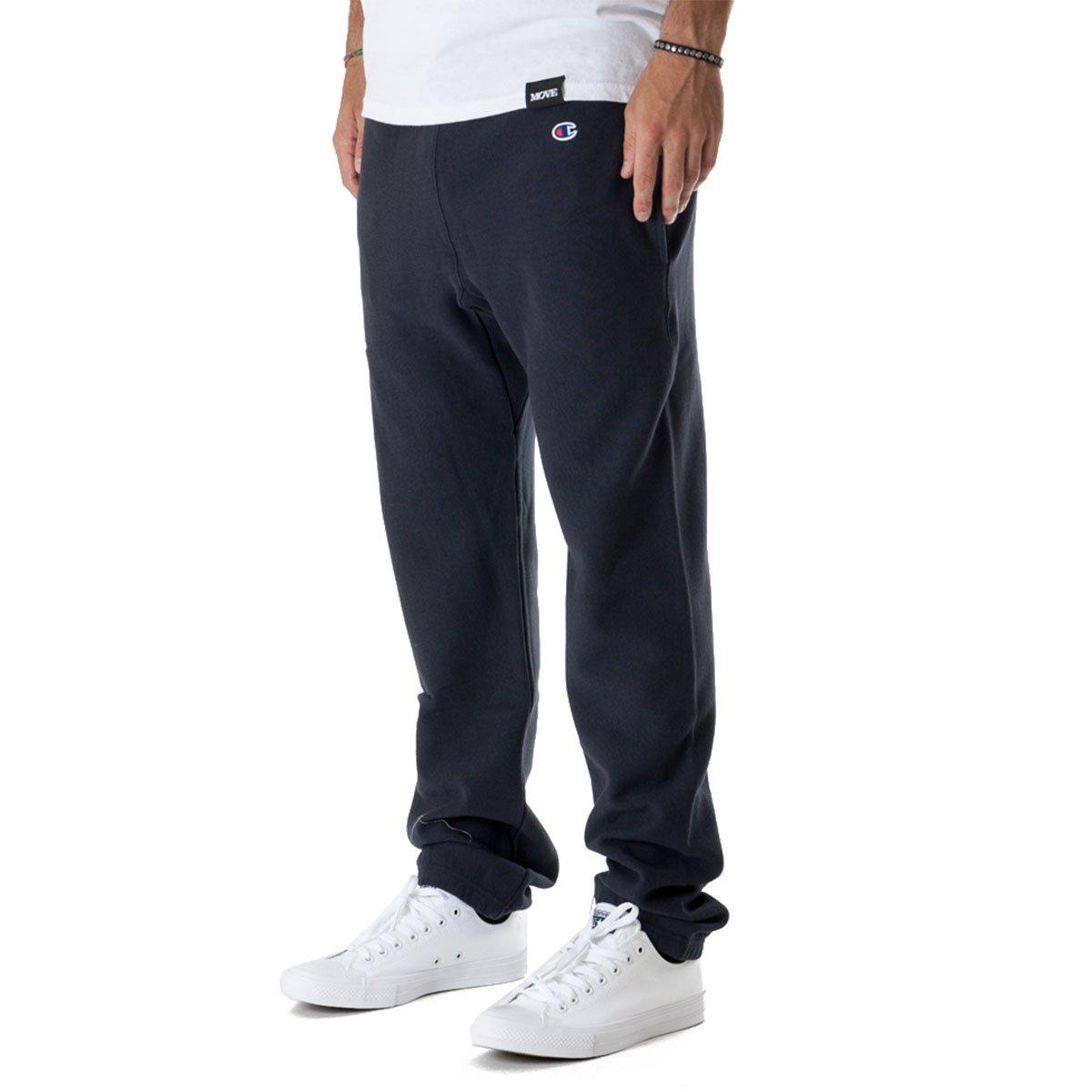 2c4888a40351 Champion Reverse Weave Track Pants (Navy) Medium  Amazon.co.uk  Clothing