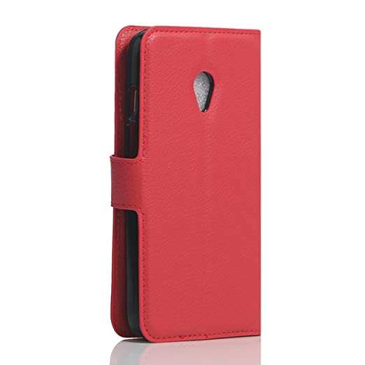 Funda Vodafone Smart Turbo 7, HualuBro [Protección Todo Alrededor] Premium PU Cuero Leather Billetera Wallet Carcasa Case Flip Cover para Vodafone Smart ...