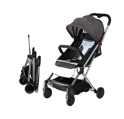 XnZLXS-Cochecitos One-Handed Plegable bebé Coche Ultraligero Paraguas portátil Coche para niños Trolley