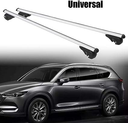 Universal-Dachtr/äger aus Aluminium belastbar bis 100 kg Dachtr/äger f/ür Autos mit Diebstahlsicherung 130 cm