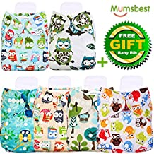 Mumsbest Baby Adjustable Reuseable Covers, Baby gift sets , Cloth Diaper Cover for Fitted Diapers and Prefolds, 6pcs Cloth Diaper Cover, Baby Gift Sets for Boy