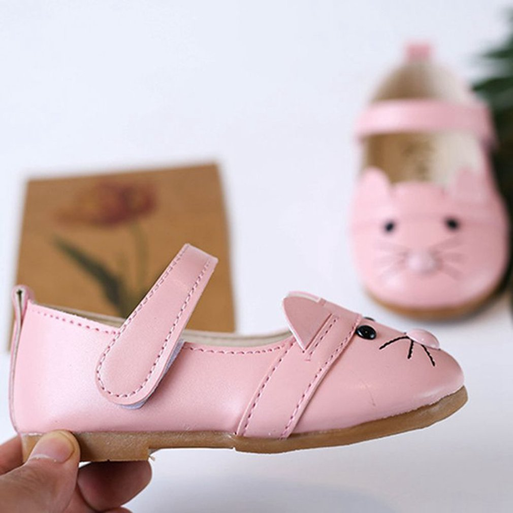Toddler//Little Kid CYBLING Toddler Girls Cute Cat Mary Jane Ballet Flats Shoes with Hook and Loop Strap