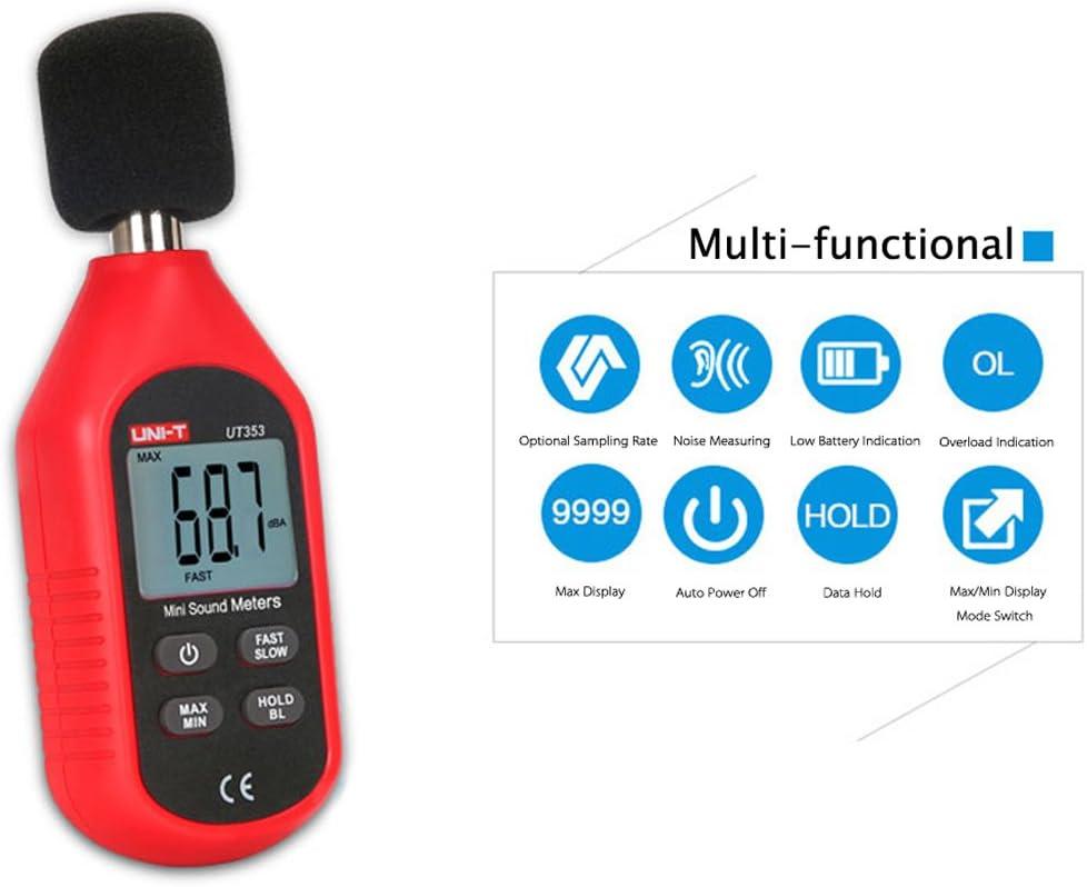 Ut353 Mini LCD Digital Sound Level Meter Noise Decibel Instrument de Mesure de Surveillance Tester 30-130Db Baugger SONOM/ÈTRE