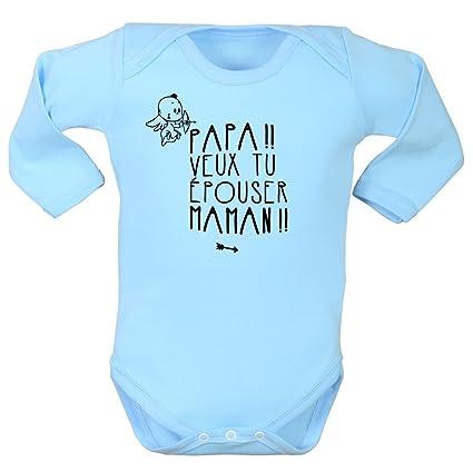 Ropa interior bebé, body demanda en boda, mamá y Papa, Bodies bebé,
