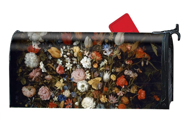 KSLIDS Home Mailbox Wrap Oil Pianting Flower Four Seasons Magnetic Mailbox Cover