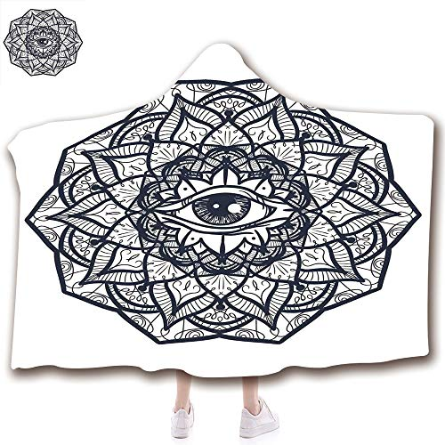 scocici Fashion Blanket Ancient China Decorations Blanket Wearable Hooded Blanket,Unisex Swaddle Blankets for Babies Newborn by,with Ethnic Mandala Form Providence Energy,Adult Style Children Style for $<!--$19.88-->