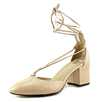 Callisto Corda Round Toe Synthetic Heels | Pumps