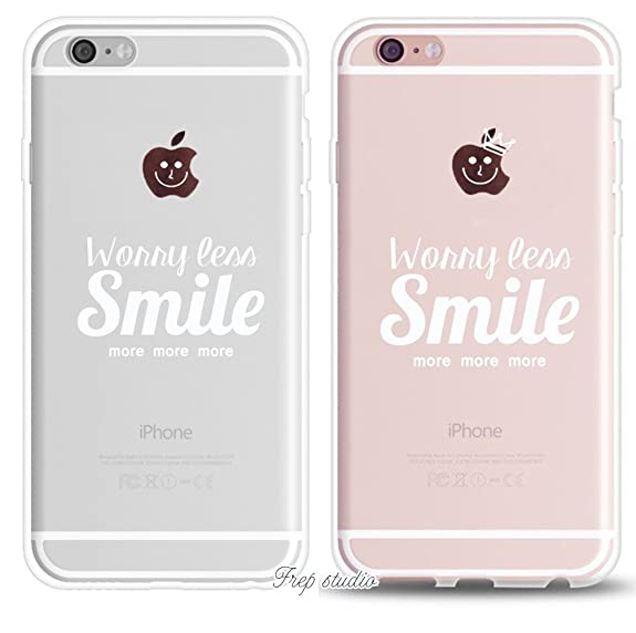 Amazing IPhone 7 Plus Funny Cute Inspirational Motivational Sassy Quote Couple  Case Worry Less Smile More