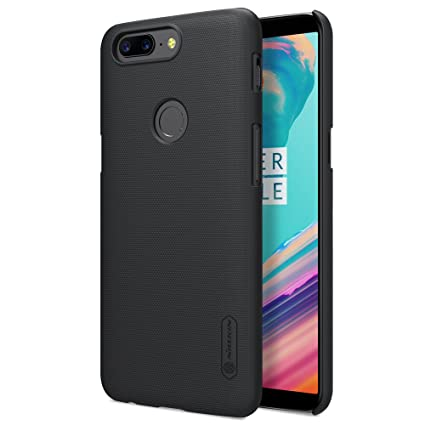 new product 43ee9 a3f5b Nillkin Super Frosted Shield Hard Back Cover Case for Oneplus 5T- BLACK
