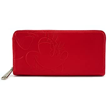 Loungefly Disney - Cartera Tarjetero Rojo Minnie Mouse: Amazon.es: Equipaje