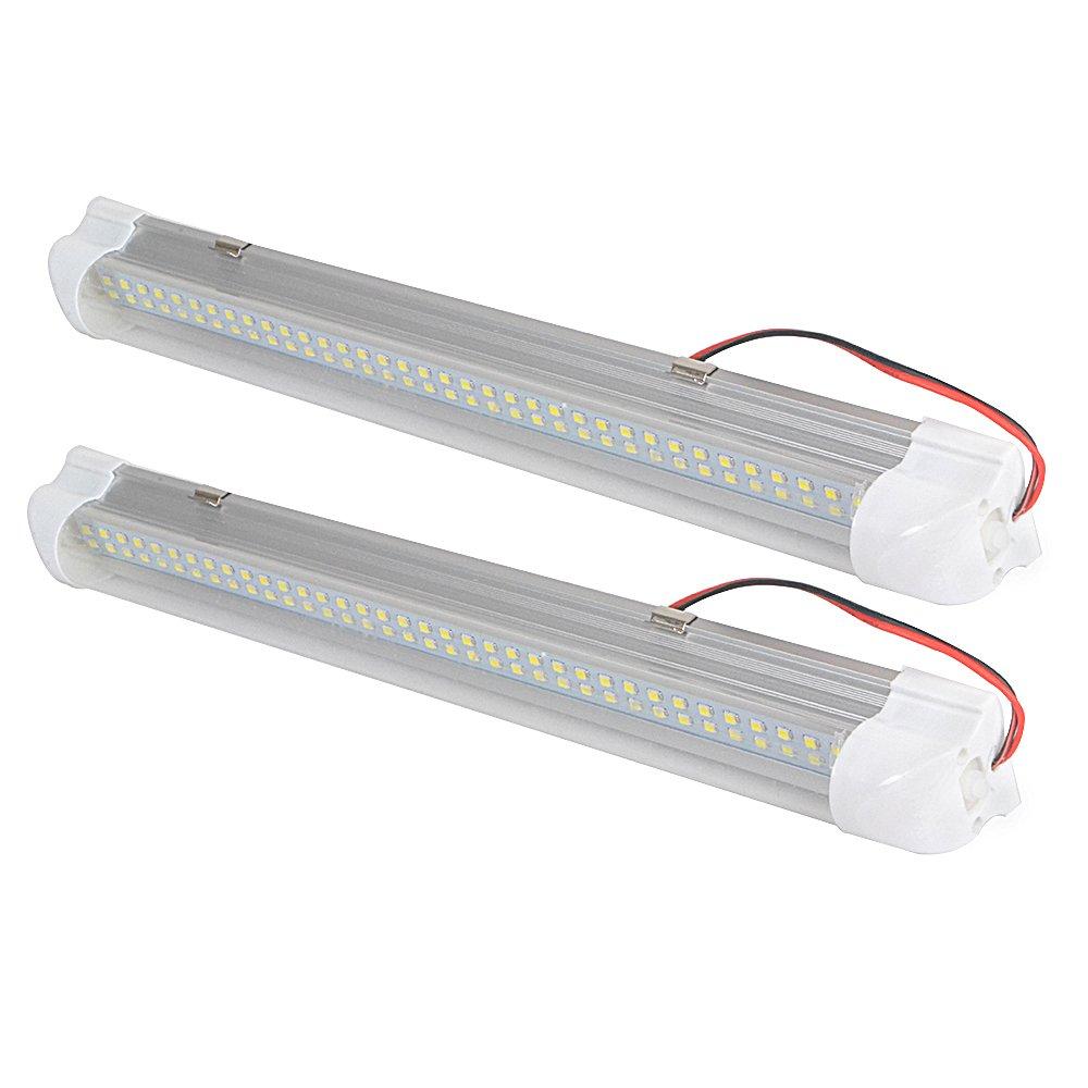 barco barra de luz blanca 12 V 72 LED juego de 2 Tira de luz interior para coche caravana autob/ús cocina ba/ño