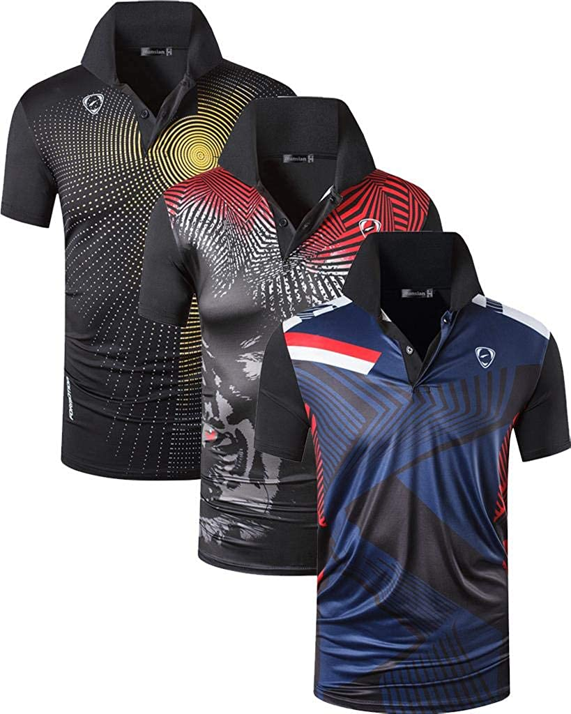 jeansian Herren 20 Pack Dry Fit Sport Polo Tee Shirt Poloshirt ...